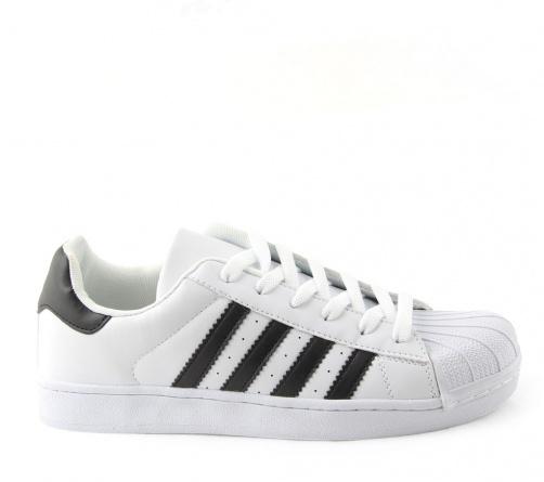 Sneakers Λευκά Μαύρα Ανδρικά
