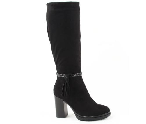 Μπότες με τακούνι μαύρες La Coquette