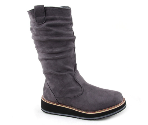 Γυναικείες Μπότες Flatform Γκρι