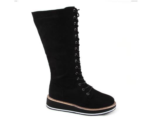 Μπότες Flatform με Κορδόνια