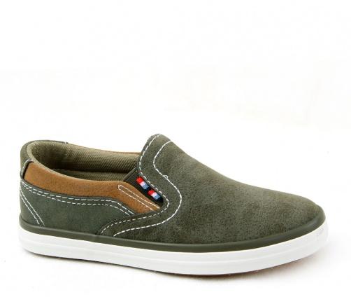 Παιδικά casual παπούτσια για αγόρι λαδί