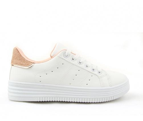 Παπούτσια Sneakers Λευκό/Ροζ