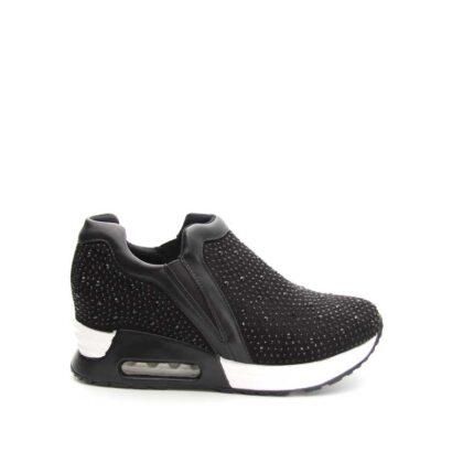 Γυναικεία sneakers μαύρα με στρας