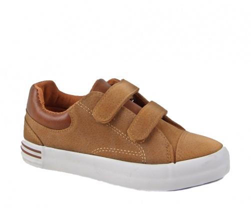 Casual παπούτσια με αυτοκόλλητα κάμελ