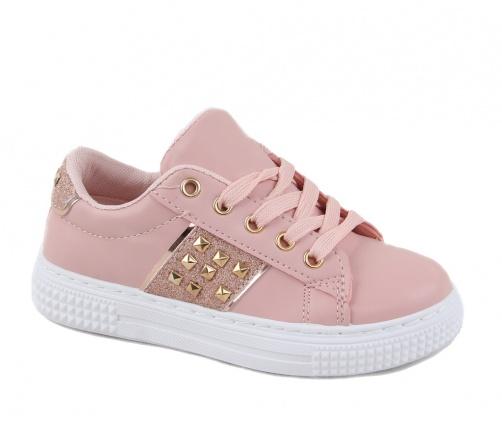 Παιδικά Sneakers Δίχρωμα Ροζ/Χρυσό