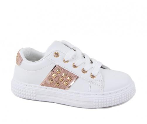 Παιδικά Sneakers Δίχρωμα Ασπρα/Ροζ