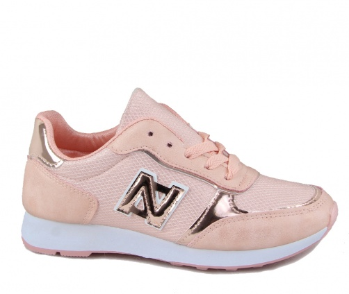 Παπούτσια sneakers γυναικεία ροζ-χρυσό