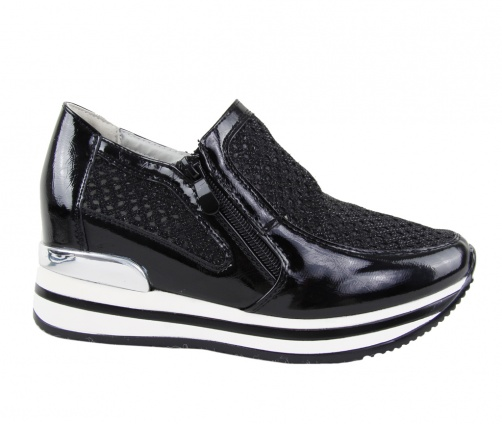 Γυναικεία Casual Παπούτσια Flatform Μαύρα