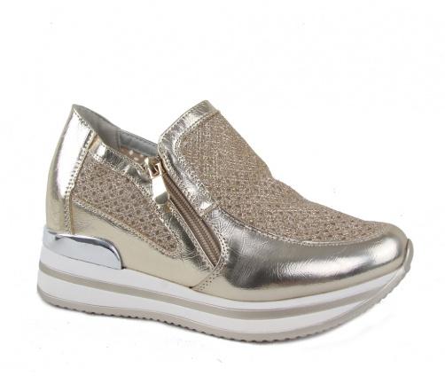 Γυναικεία Casual Παπούτσια Flatform Χρυσά