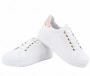 Sneakers Λευκά Ροζ Γυναικεία