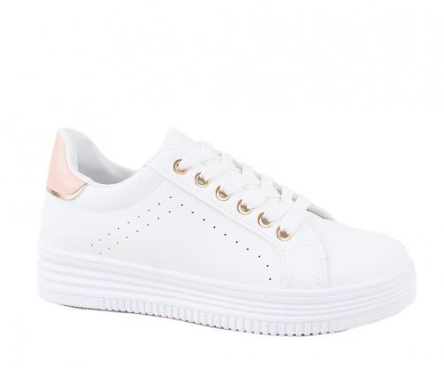 Sneakers Λευκά/Ροζ Γυναικεία