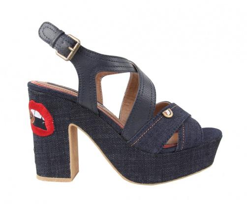Γυναικεία Πέδιλα Wrangler blue black jean