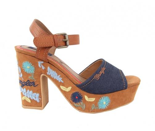 Γυναικεία Πέδιλα Wrangler flower jean