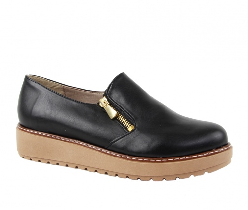 Χειροποίητα Παπούτσια με φερμουάρ Μαύρα