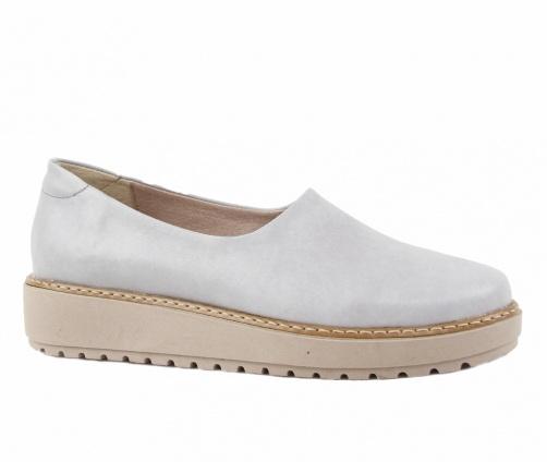 Χειροποίητα Slip On Παπούτσια Γκρί