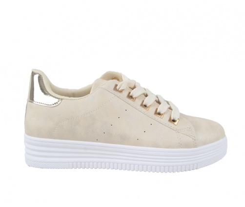 Sneakers Απαλό Χρυσό Γυναικεία
