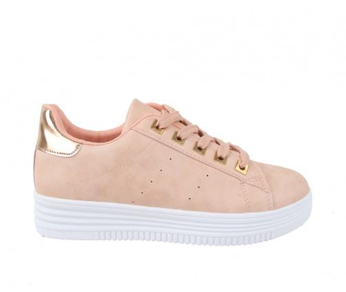 Sneakers Ροζ Χρυσό Γυναικεία