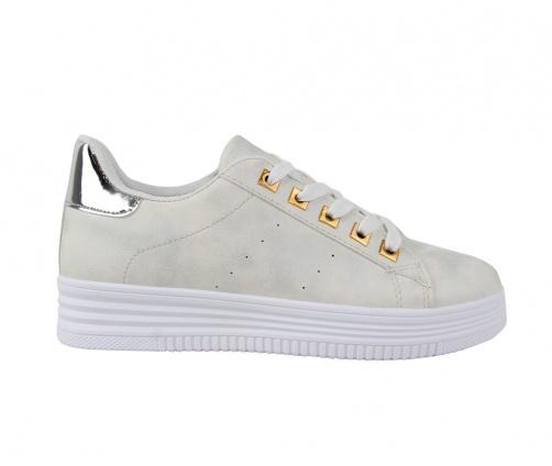 Sneakers Απαλό Ασημί Γυναικεία