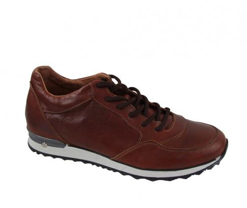 Ανδρικά Δερμάτινα Παπούτσια καφέ
