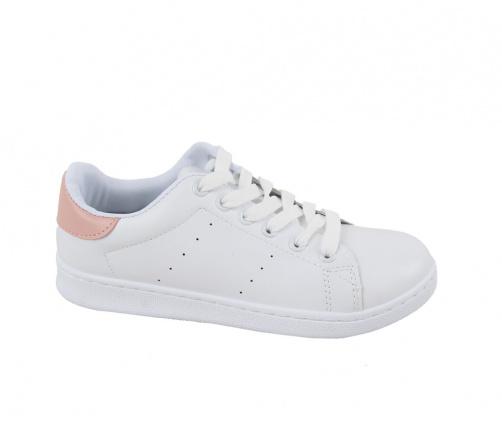 Sneakers Γυναικεία Λευκό με Ροζ