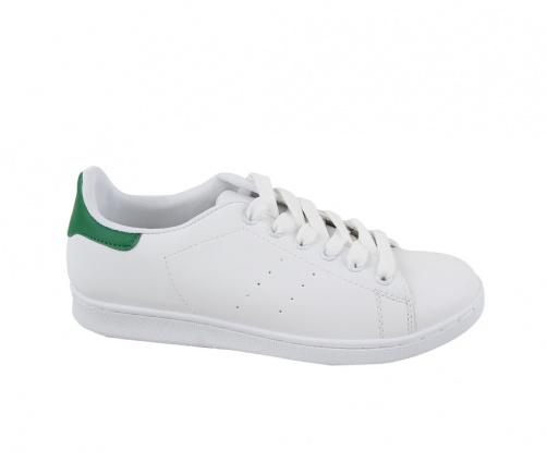 Sneakers Ανδρικά Λευκό με Πράσινο