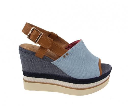 Γυναικείες Πλατφόρμες Jeans Σιελ