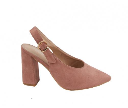 Πέδιλα ροζ suede