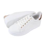 Sneakers Λευκά Μπρονζε Γυναικεία