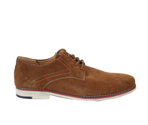 Δερμάτινα παπούτσια καφέ