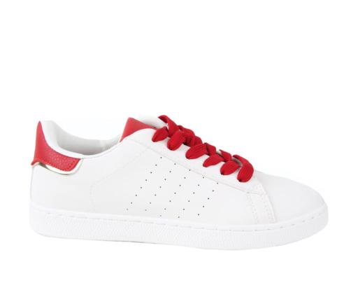 Sneakers Λευκά Κόκκινα Γυναικεία