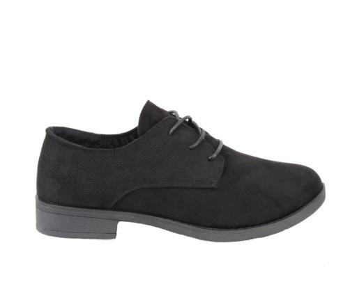 Γυναικεία μαύρα παπούτσια με κορδόνια