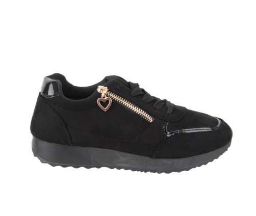 Αθλητικά Μαύρα suede Παπούτσια