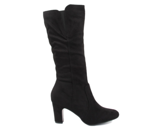 Μπότες Μαύρες Suede