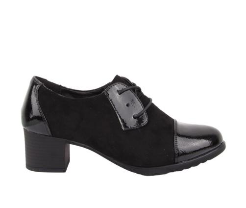 Γυναικεία μαύρα παπούτσια suede