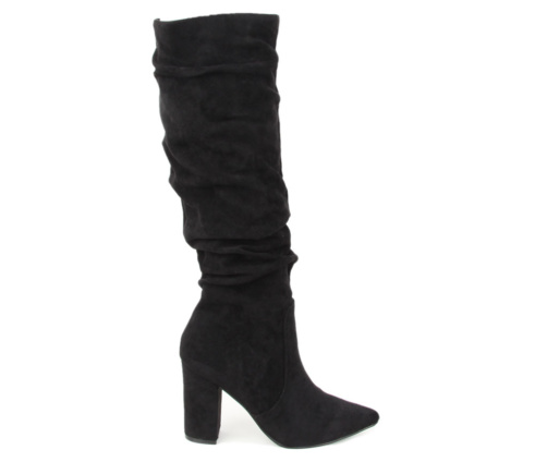 Μπότες Ψηλές Μαύρες Suede