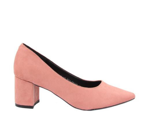 Γόβες ροζ μυτερές χαμηλές
