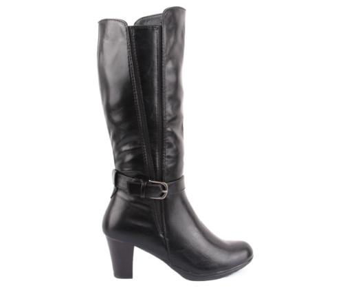 Γυναικείες Μαύρες Μπότες με τοκά