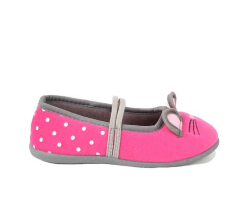Παιδικές Παντόφλες Ροζ Ποντικάκια