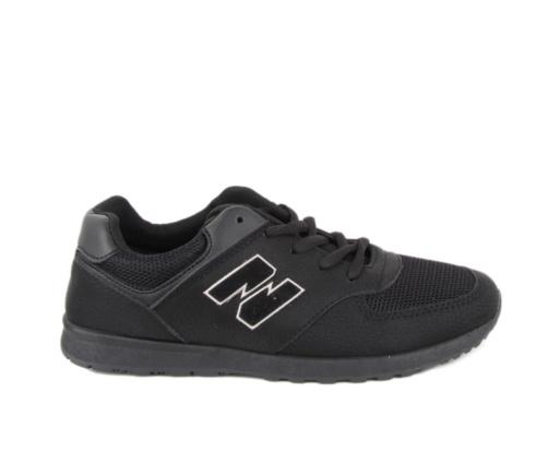 Αθλητικά Εφηβικά Μαύρα Παπούτσια