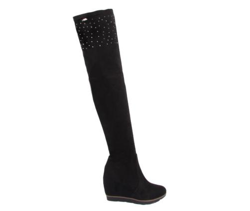 Μπότες Ψηλές Μαύρες Blondie