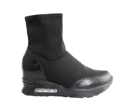 Γυναικεία sneakers μαύρα μποτάκια