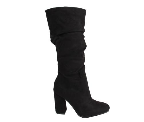 Μπότες Μαύρες Γυναικείες Suede