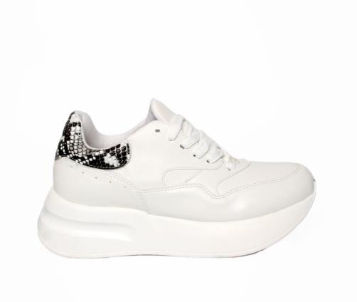 Sneakers Λευκά Μαύρο Φίδι