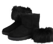 Μαύρα μποτάκια γούνινα
