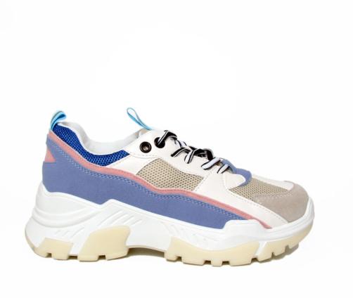Sneakers λευκό γκρι μπλε γυναικεία