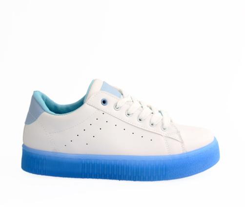 Sneakers Γυναικεία Λευκό Γαλάζιο