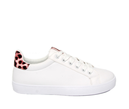 Sneakers Γυναικεία Λευκό Ροζ Leopard