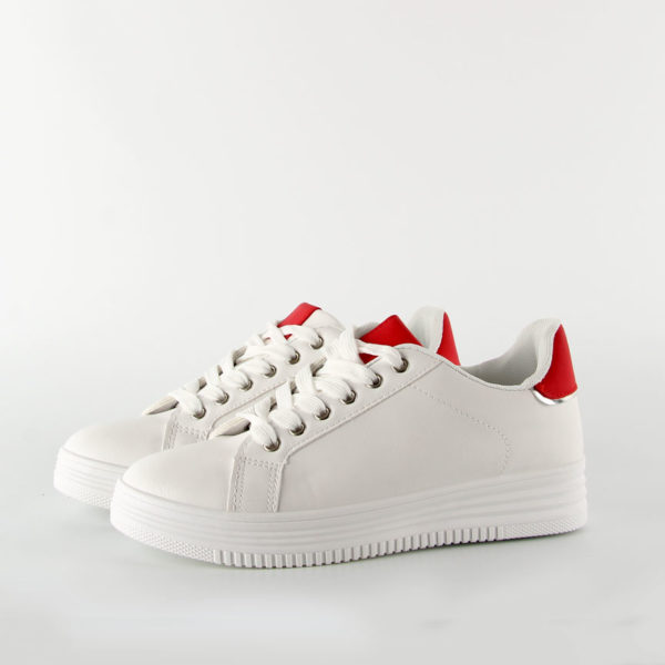 Sneakers Λευκά Κόκκινα