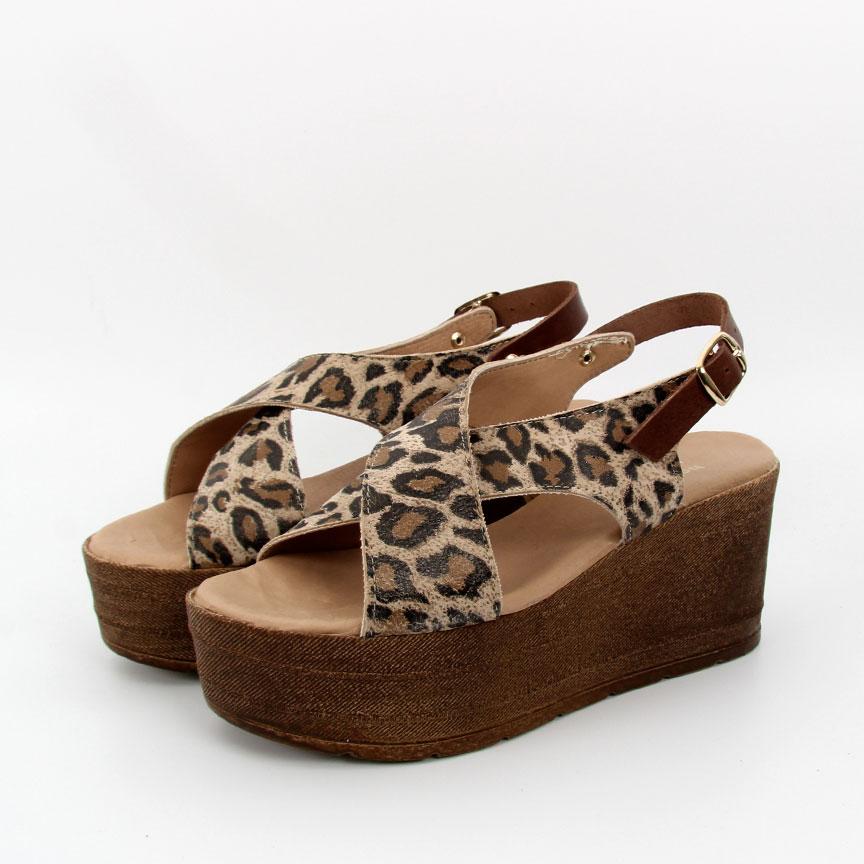 Πλατφόρμες λεοπαρ γυναικείες Bene feet