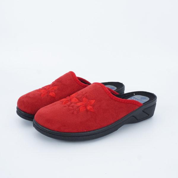Χειμερινές κόκκινες γυναικείες παντόφλες SANIBIO